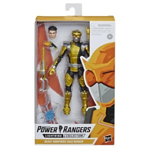Power Rangers Beast Morphers Lightning Collection Gold Ranger Pronta entrega