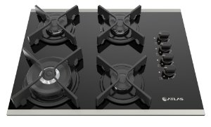 ATLAS FOGAO COOKTOP GOURMET GLASS 4BC TRIPLA CHAMA