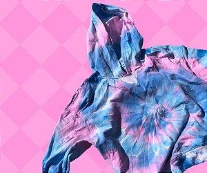 Moletom Comfy Tie Dye Rosa e Azul