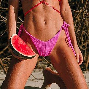 Biquíni Calcinha de Lacinho Pink Atoalhado - Bottom Mel