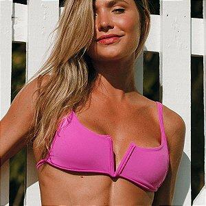 Biquíni Aro V Sem Bojo Com Regulagem Pink - Top Adri