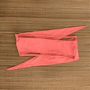 Biquíni Top Faixa com Tule Rosa Neon Tangy - Peça Avulsa - Top Lorena