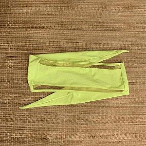 Biquíni Top Faixa com Tule Amarelo Neon - Peça Avulsa - Top Lorena