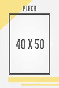 Placa Personalizada 40x50 cm
