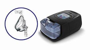Kit CPAP Auto RESmart GI com Umidificador e máscara oro-nasal iVolve Full Face - M