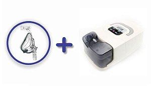Kit CPAP Básico RESmart GI com Umidificador e máscara oro-nasal iVolve Full Face - M