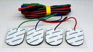 Eletrodo de Superfície Neurosoft NS-SEAg-P com cabo (Pacote com 4 unidades coloridas)