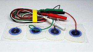 Eletrodo de Superfície Neurosoft NS-SEAg-C com cabo (Pacote com 12 unidades coloridas) - NS-SEAg-C-1.5/800/22x30