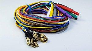 Eletrodo de EEG Neurosoft NS-DEG101500-SC - 1,5m - Gold/Silicone