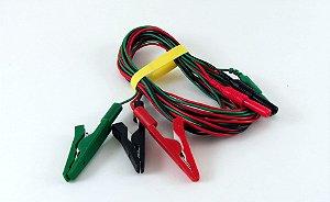 Cabo para conexão de eletrodos tipo Jacaré Neurosoft NS CCS1500 - 1,5m - (Verde, Vermelho e Preto)