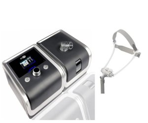 Kit CPAP Auto RESmart Gll E-20AJ-H-O com Umidificador e Máscara Nasal FeaLite Pillow, Tamanhos G, M e P.