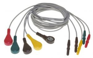 Jogo de Eletrodos de 5 fios EEG/ECG EIC para Mecta - 9010-0011-12