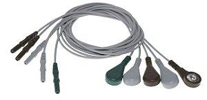 Jogo de eletrodos de 5 fios EEG1/EEG2 e EEG3/EEG4 para Mecta - 9010-0011-13