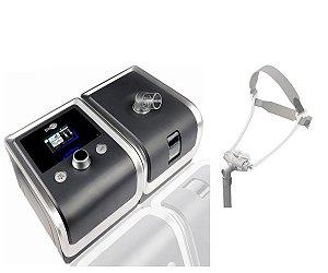 Kit CPAP Básico RESmart Gll, modelo E-20C-H-0, com Umidificador e Máscara Nasal Fealite Pillow - Tamanhos P, M e G