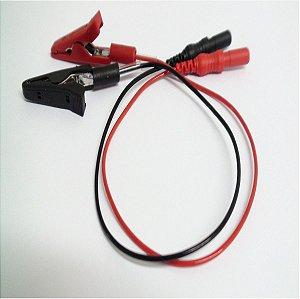 Par Eletrodo de EMG Highlander tipo Jacaré 441 - 215 - Vermelho e Preto - 20 cm