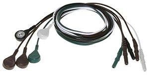 Jogo de eletrodos de 5 fios EEG/ECG para Mecta - 9010-0011-11