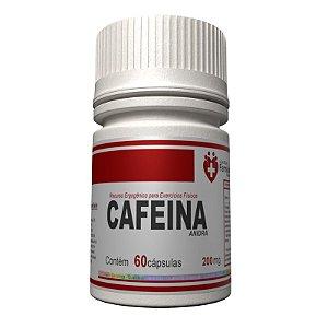 Cafeína Anidra 200mg 60 cápsulas - Acelerador de metabolismo