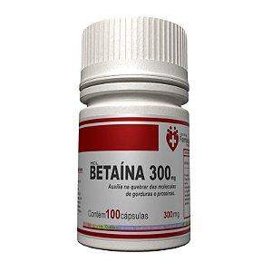 Betaína HCL 300mg 100 Cápsulas - metabolismo dos alimentos