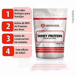 Whey Protein Isolado Puro sem sabor 600g