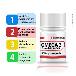 Omega3 1000mg 90 cápsulas EPA/DHA