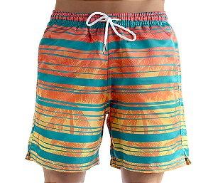 Bermuda Masculina de Praia Listras Verão