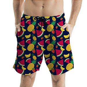 Bermuda Masculina de Praia Frutas Diversas