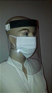 Kit 5 Protetor Proteção Facial + 5 Protetor De Pano Lávavel
