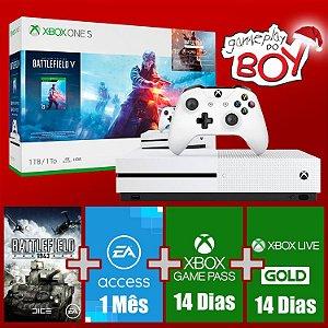 Xbox One S 1Tb Com Battlefield V + EA Access, Live e GamePass