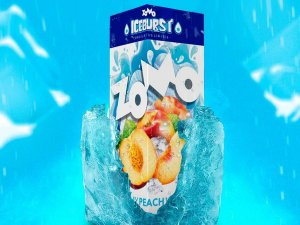 Peach Ice Zomo 60ml + 10ml Iceburst 3mg