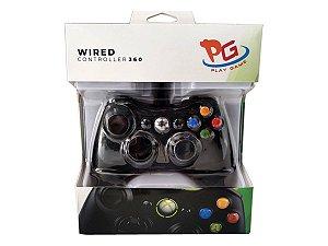 Controle Xbox 360 Com Fio PG