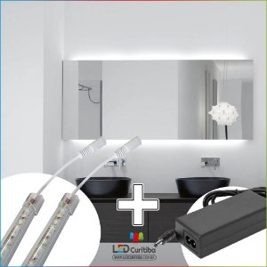 Barra De Led Para Espelho De Banheiro 1m 6000k + Fonte 2.5a