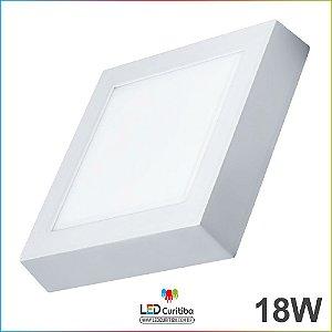 Plafon de Sobrepor quadrado 18w 6500k Branco frio bivolt 12v