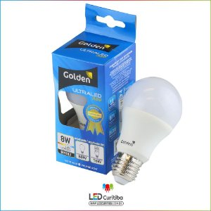 Lampada de led 8w Golden A60 6500K Branca Frio Ultraled