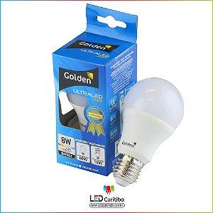 Lampada de led 8w Golden A60 6500K Branca Frio Ultraled