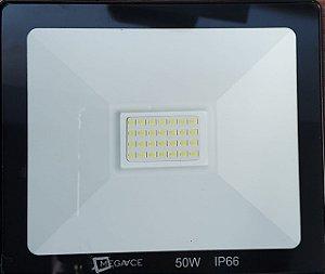 Refletor Micro LED 50 W  IP 66 6000-6500 K Branco Frio Slim Bivolt
