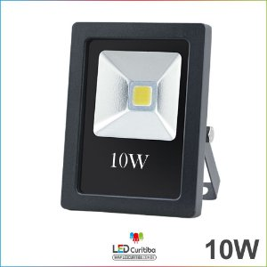 Refletor de Led Holofote 10w Bivolt 700lm 3000k Branco Quente