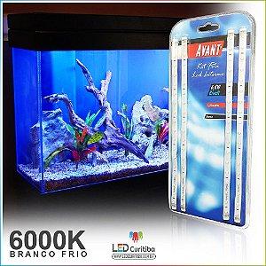 Kit Fita Led Para Aquario 6000k Branco Frio 12v 1,2m + Fonte