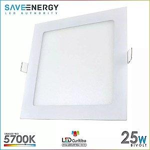 Luminaria Plafon De Embutir Teto Painel Led 25w 30x30 Slim