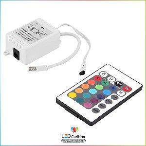 Controle 24 Teclas Para Fita Led Rgb 5050 E 3528 + Central