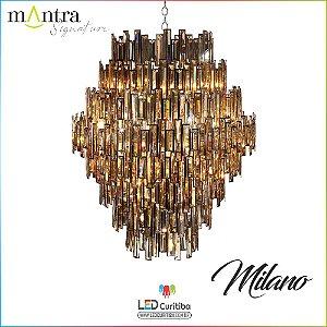 Lustre Milano Metal Cromado  (30448/30450) 12/28 Braços E14 40w