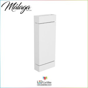 Arandela Málaga Branca Interna / Externa 2 Lampadas G9 102x260x55 - Halopin 25w / 3w Led