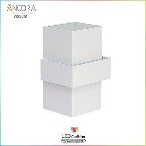Arandela #100 Branca Interna / Externa 2 Lampadas G9 100x100x310mm - Halopin 40w / 3w Led