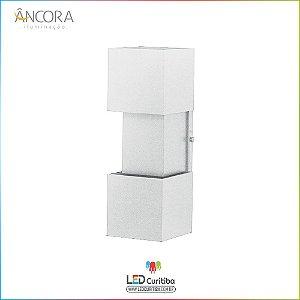 Arandela #104 Branca Interna / Externa 2 Lampadas G9 100x100x330mm - Halopin 40w / 3w Led