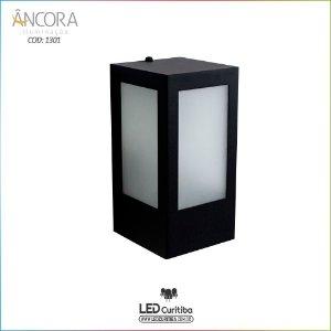 Arandela #1301 Interna / Externa 1 Lampada E27 11,5xx11,5x120x230mm - Halopin 40w / 3w Led