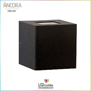 Arandela #213 Interna / Externa 1 Lampada G9 110xx110x110mm - Halopin 40w / 3w Led