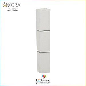 Arandela #1246-02 Interna / Externa 2 Lampadas G9 50X50X300mm - Halopin 40w / 3w Led