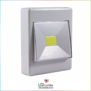 Luminária de Led para Armário Corredor Abajur Imã Pilha-BATERIA 3w Cob