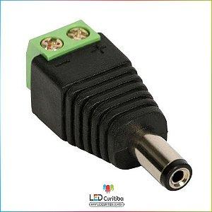 Conector P4 Macho Com Borne Para Instalação De Camera de Segurança