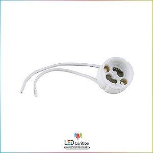 Soquete para Lâmpada Dicróica GU10 com fio
