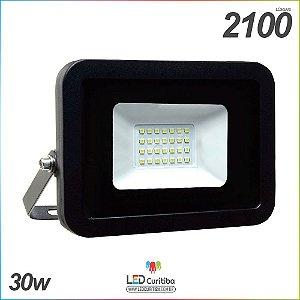 Holofote Refletor Slim 30w Externo a Prova D'água IP65 3000 lúmens Bivolt
